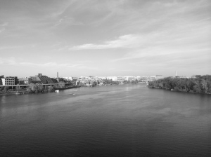 Going over the Key Bridge - view of the waterfront