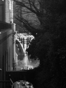 A peek at the Key Bridge