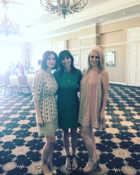 From left: My sister, mom, and me before the event began