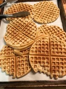 Vanilla waffles for the caramel apple waffle dessert